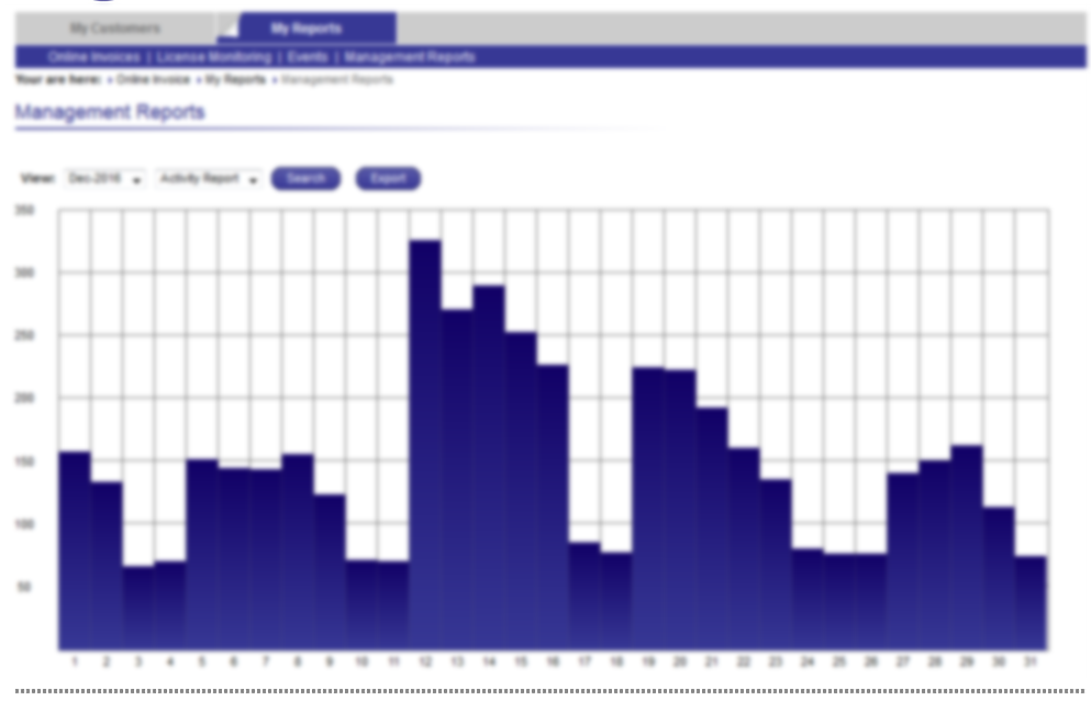 It's a section of reports in the admin application. Displays the application activity by days for a specific month.