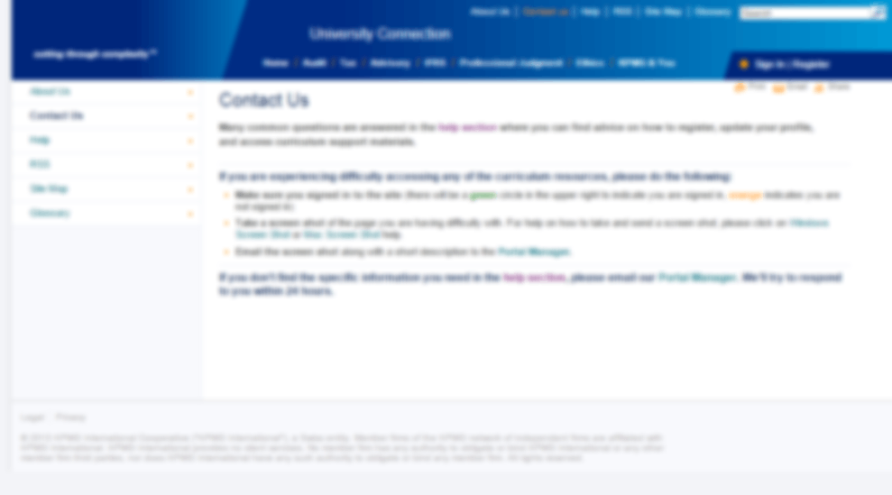 Contact Us section provides contact information of the company.