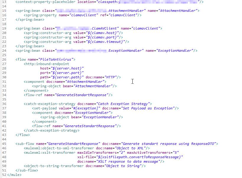 The main flow, XML.