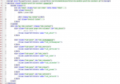 Example of user's page. When developing JSP pages Tiles template framework was used. This framework allows to collect JSP pages from separate, the most repeated parts of JSP code (templates) which are registered in the configuration file tiles.xml. Patterns are imported into the page using special tags. The Screenshot clearly demonstrates it.