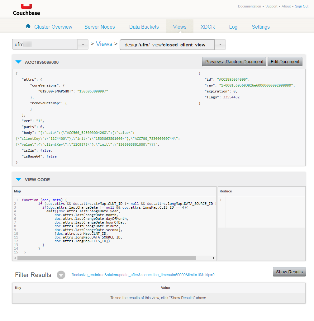 View Couchbase logic content